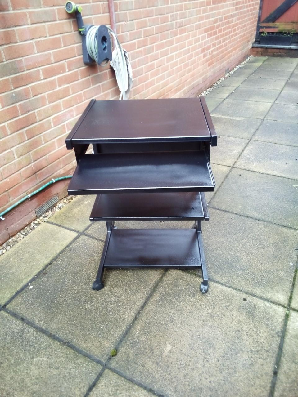 as new pc desk for sale black in color down sizing hence the