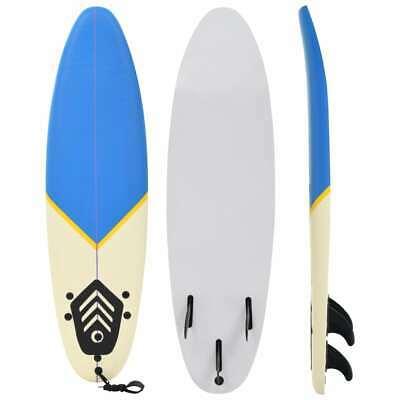 vidaXL Surfboard 170cm Blue and Cream Start Buoyancy Wave