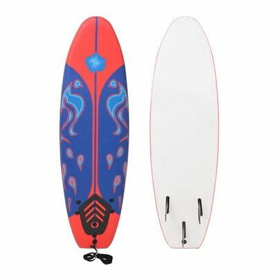 vidaXL Surfboard Blue and Red 170 cm~