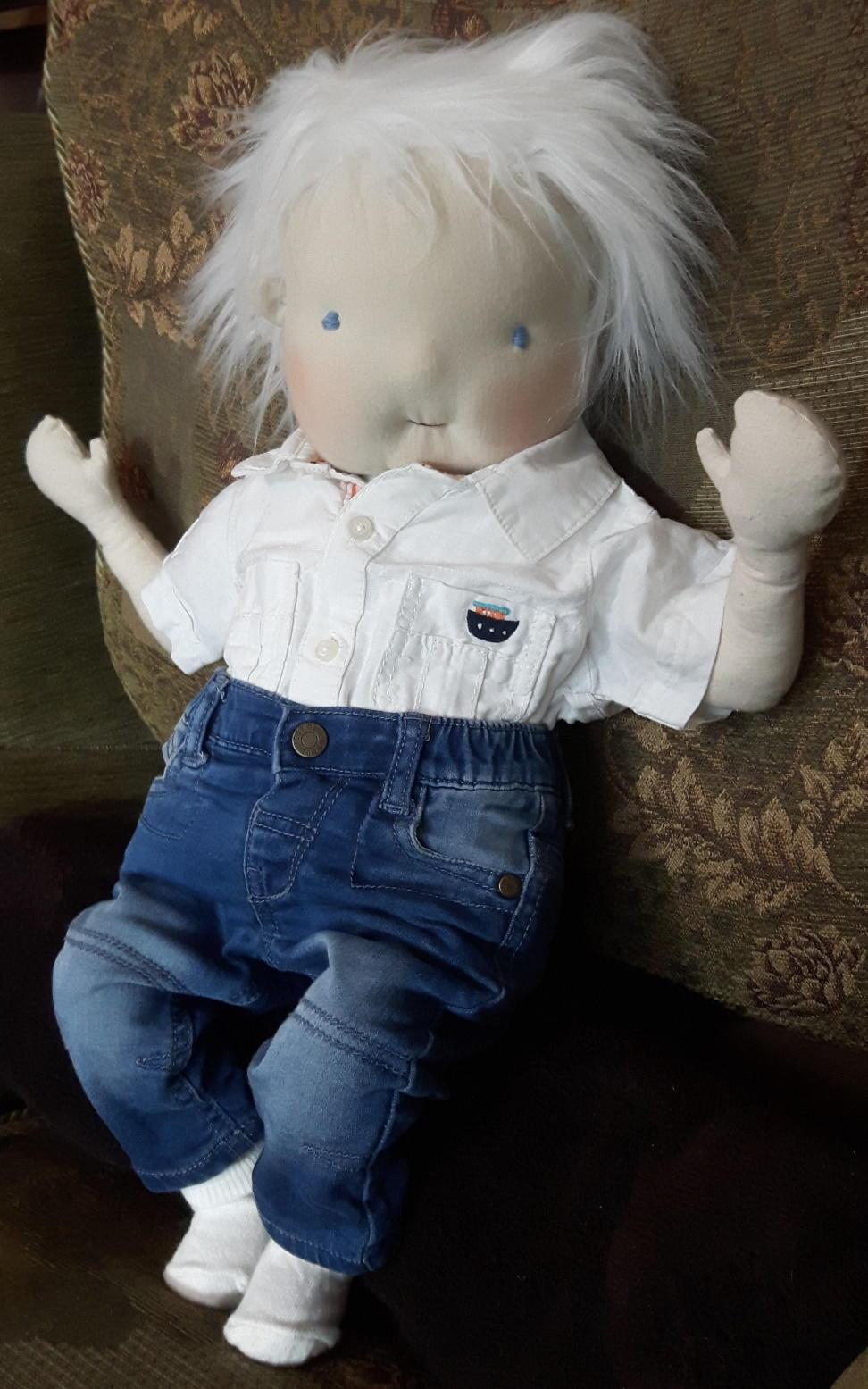 "BIG 23"" ART DOLL Baby Boy ooak for sale friend handmade"