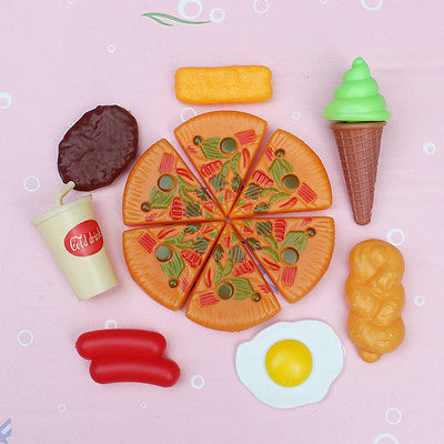 13x Plastic Kid Children Pizza Cola Ice Cream Food Kitchen