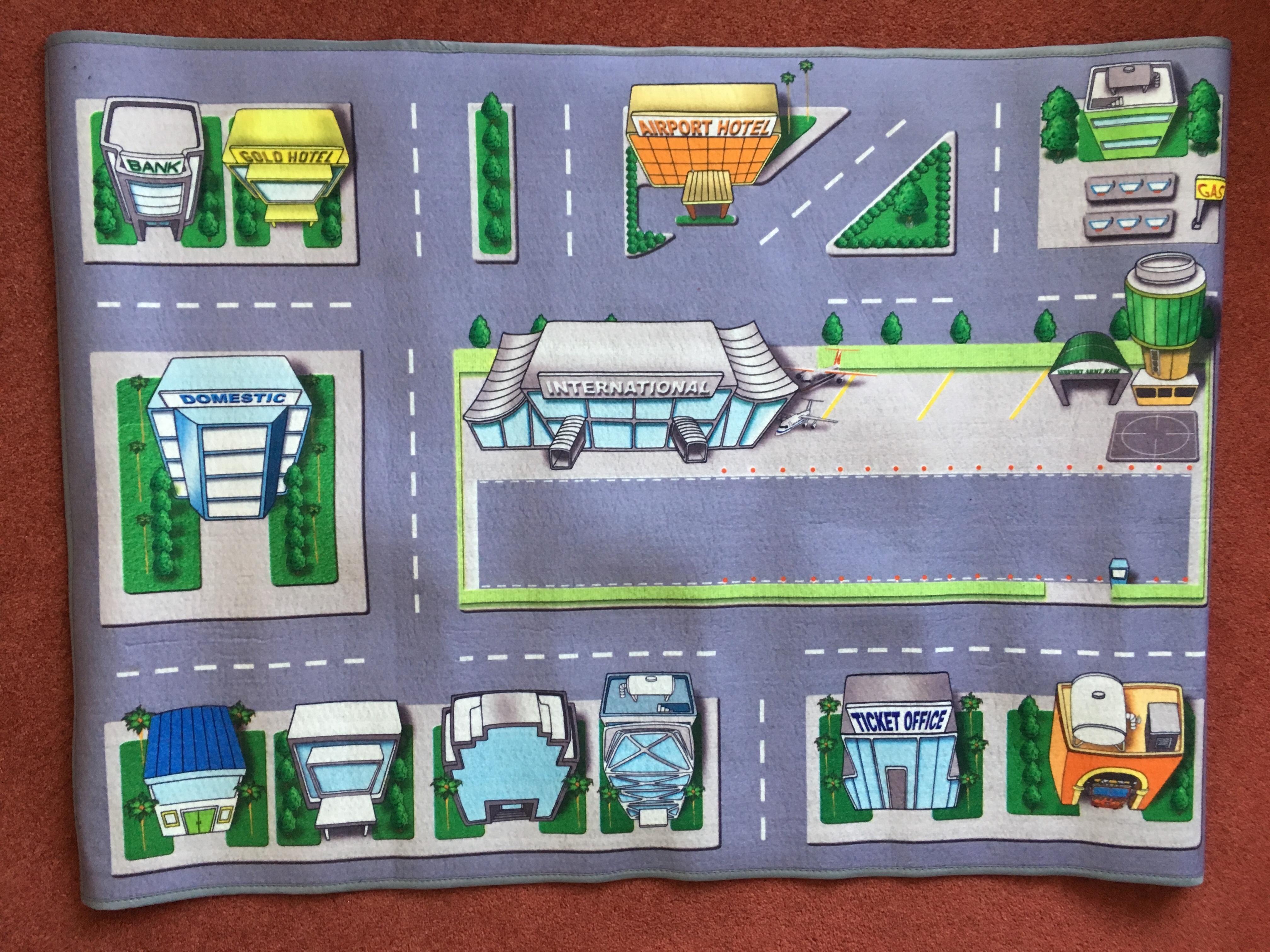 Children's Kids Play Mat, Cars City Town Roads