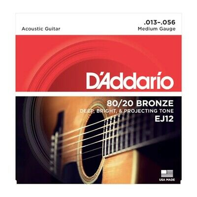 D'Addario  Bronze Medium  [EJ12] Acoustic Guitar