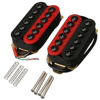 Double Coil Humbucker Electric Guitar Neck Bridge Pickup Red
