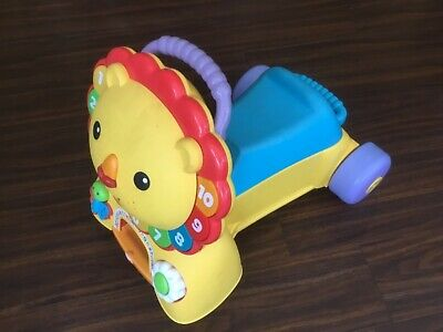 Fisher Price 3 in 1 Sit Stride and Ride on Lion Baby Walker