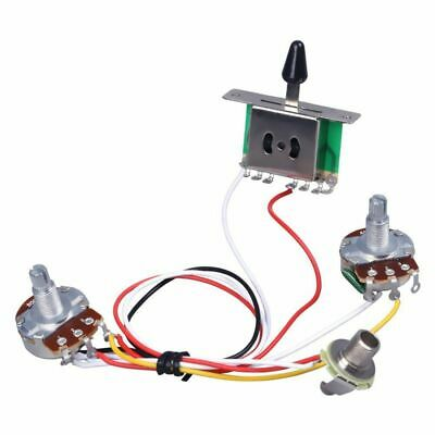 Guitar Pre-wired Harness, 3 Way Blade Toggle Switch 1V1T