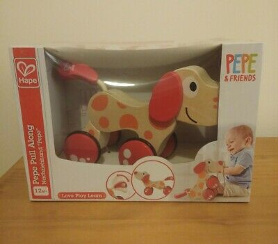 HAPE Pepe Puppy Pull Along Wooden Toy Baby gift Toddler 12