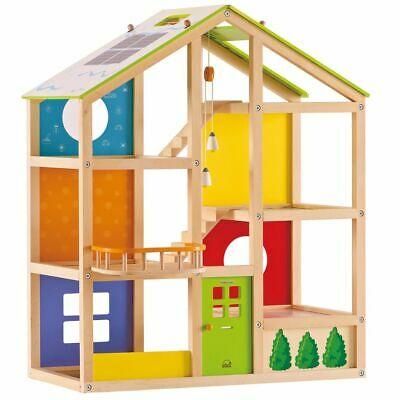 Hape All Season Doll House-Unfurnis hed EPcs Age 3