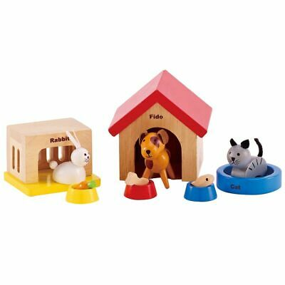 Hape Family Pets Toy E pcs Wooden Dolls Toddler