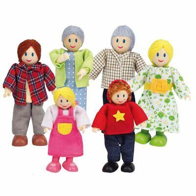 Hape Happy Family Dolls - Caucasian E Pcs Age 3 Years+