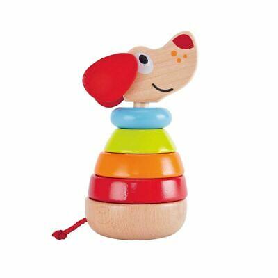 Hape Kids Children Baby Pepe Rainbow Stacker Wooden Stacking