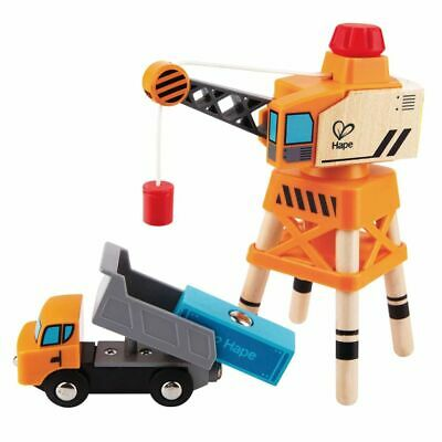 Hape Large Boom Crane Kids Children Baby Wooden Toy Play Set