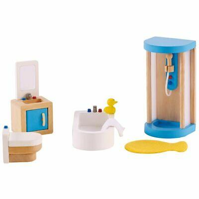 Hape Wooden Doll Family Bathroom Set E pcs Age 3