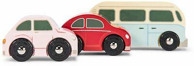 Le Toy Van CARS & CONSTRUCTION RETRO METRO CAR SET Wooden