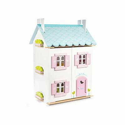 Le Toy Van H138 Blue Bird Cottage with Furniture