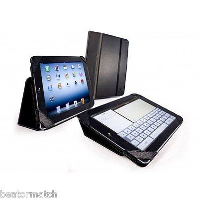 Leather Smart Case Cover Stand for Apple New iPad 2 3 Black