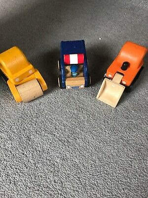 Plan Wooden construction vehicles toys diggers rollers, ELC