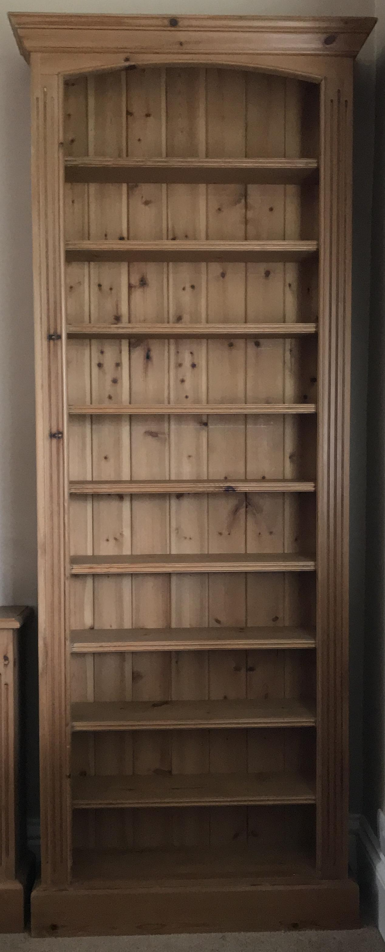 Traditional-style solid pine CD shelves