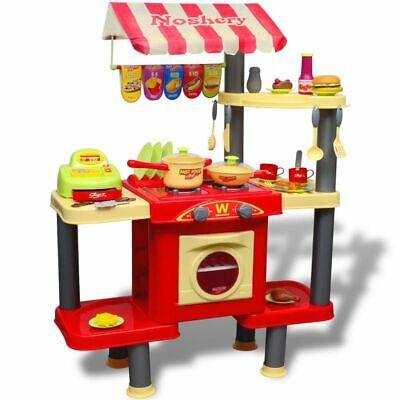 vidaXL Kids Playroom Toy Kitchen Cooking Cooker Pretend Play