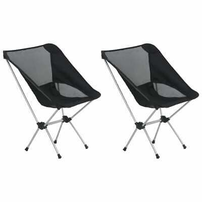 vidaXL 2x Folding Camping Chairs with Carry Bag Aluminium