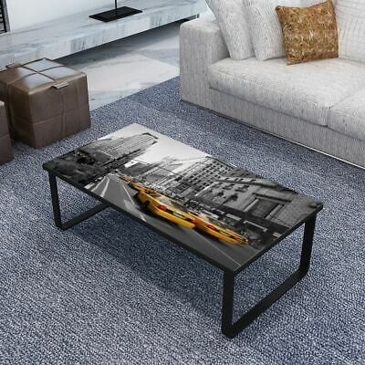 vidaXL Coffee Table with Glass Top Rectangular Telephone