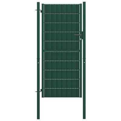 vidaXL Fence Gate Steel 100x124 cm Green Outdoor Garden