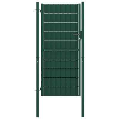 vidaXL Fence Gate Steel 100x164 cm Green Outdoor Garden