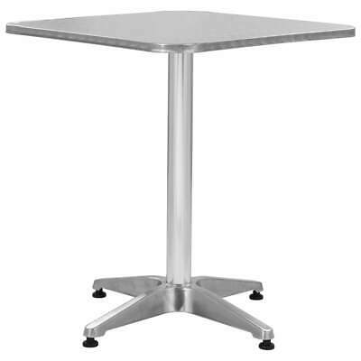 vidaXL Garden Table Silver 60cm Aluminium Outdoor Desks