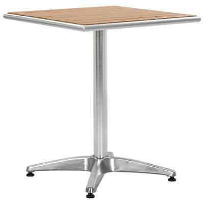 vidaXL Garden Table Silver 60cm Aluminium and WPC Outdoor