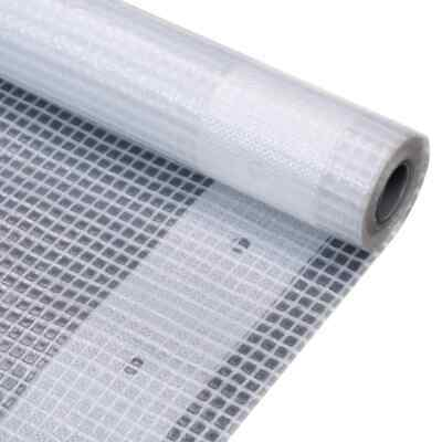 vidaXL Leno Tarpaulin 2x2m White Ground Sheet Cloth Cover