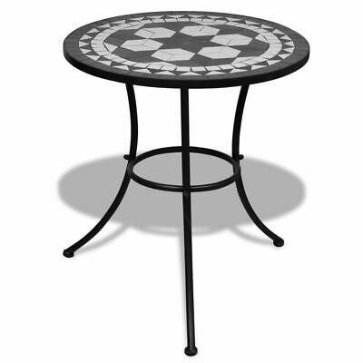 vidaXL Mosaic Table 60cm Black and White Outdoor Garden