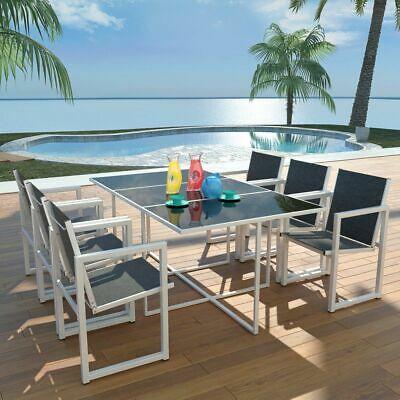 vidaXL Outdoor Dining Set 7 Piece 165x100x72cm Aluminium