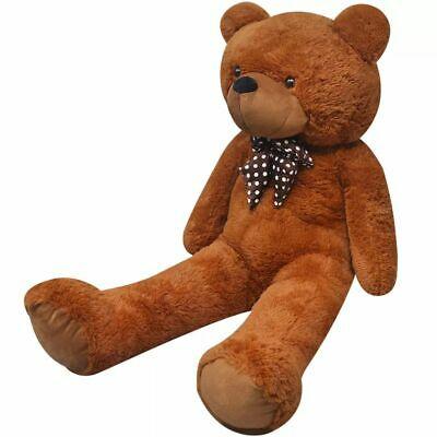 vidaXL Teddy Bear Cuddly Toy Plush Brown 200cm Soft Stuffed