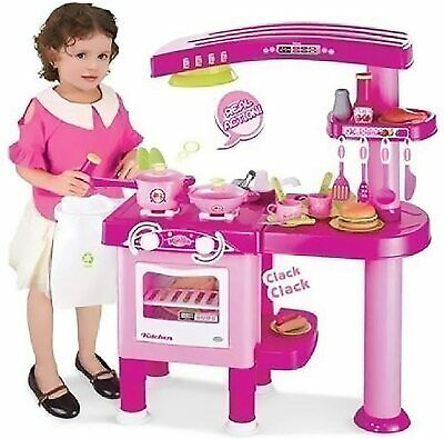 Kids Kitchen Cooking Play Set 69 Pieces Large Role Play