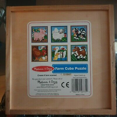 Melissa and Doug - Farm Cube Puzzle 6-in-1 Farm Animal