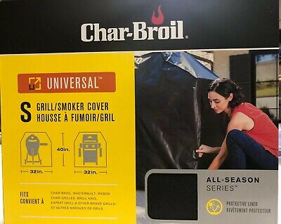 Char Broil Universal grill smoker cover small 40 x 32 in