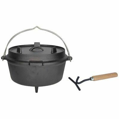 Esschert Design Dutch Oven Camping Cooking Pot Fire 3 Feet