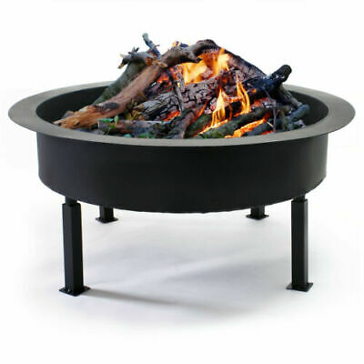 Fire Bowl Steel Pit V1 BBQ Camping Garden Patio Terrace