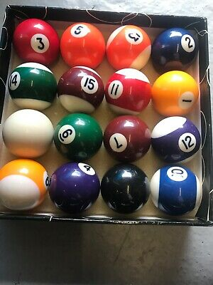 Full Set UK Regulation 16 Spots and Stripes Pool Ball Set