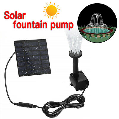 180L/H Solar Panel Powered Water Pump Garden Pool Pond Fish