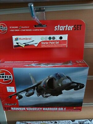 Brand New Airfix 1:72nd Scale Hawker Harrier GR.1 Starter