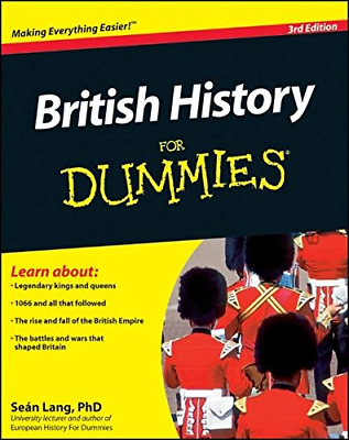British History For Dummies, Lang, Seán, Good Condition