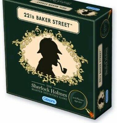 Gibsons 221B Baker Street Board Game The Sherlock Holmes