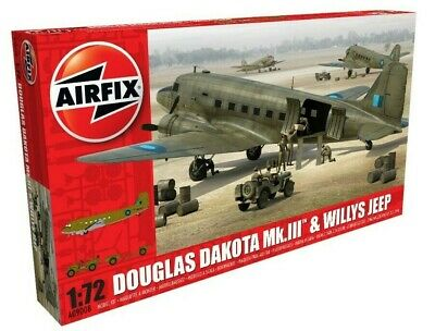 New Airfix 1:72nd Scale Douglas Dakota Mk.III with Willys MB