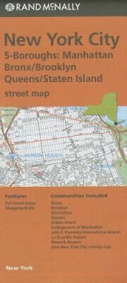 Rand McNally New York City 5 Boroughs, New York Street Map: