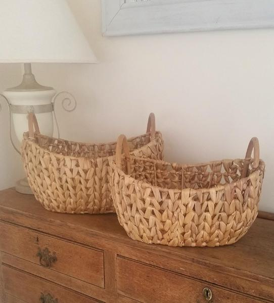 Set of Two Large Baskets
