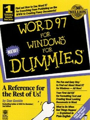 Word 97 for Windows for dummies by Dan Gookin (Paperback /