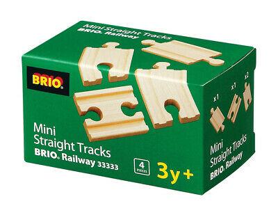 BRIO  Mini Straight Tracks Wooden Railway Tracks inc 4