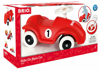 BRIO Ride on Race Car Sit On Push Along Toy Wooden