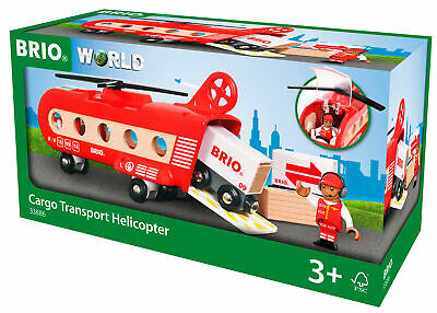 BRIO WORLD Cargo Transport Helicopter Wooden Toy